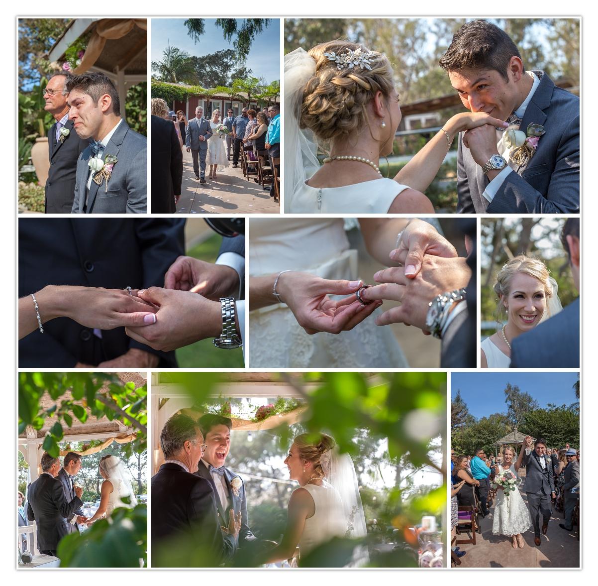 wedding rings, wedding bands, tears, kisses, cheers