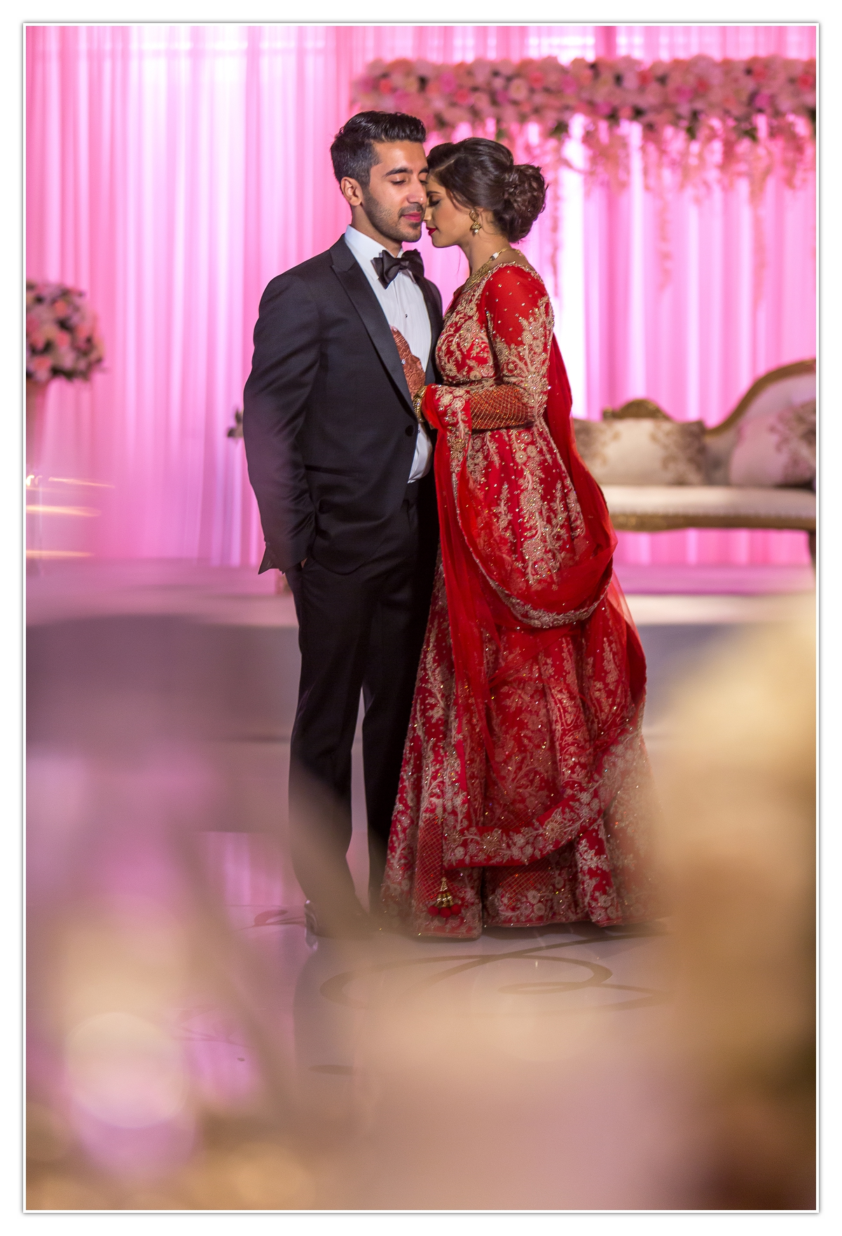reception first look South Asian Indian Wedding Video Photography